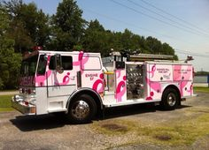 Breast Cancer Awareness Month. 10-5-15. Photo from Pink Heels, Inc./Pink Fire Truck