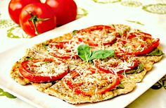 Grilled Tomato & Basil Flatbread