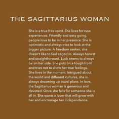 November 22 - December 21 Sagittarius, the ninth sign of the zodiac, is the home of the wanderers of the zodiac. Zodiac Sagittarius Facts, Sagittarius Personality, Sagittarius Girl, Zodiac Facts, Sagittarius Season, Sagittarius Characteristics, Sagittarius Star Sign, Sagittarius Birthday, Sagittarius Compatibility
