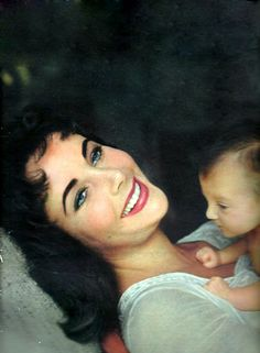 Elizabeth Taylor and daughter, Liza Todd | Tumblr/.....Don't know that I've ever seen a picture where she looked so happy!