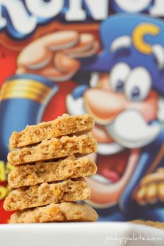 Hello! Peanut butter cookies with Cap'n Crunch!