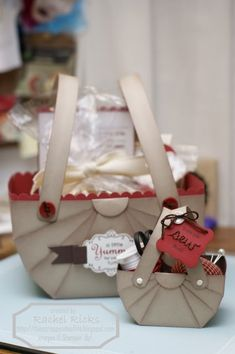 """Nantucket Cardstock Gift Baskets. Make different sizes, from 6"""" 9"""" or 12"""" square paper! Also cute for storage or decoration."""