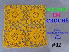 Transcendent Crochet a Solid Granny Square Ideas. Inconceivable Crochet a Solid Granny Square Ideas. Crochet Squares, Crochet Star Patterns, Granny Square Crochet Pattern, Square Patterns, Crochet Designs, Crochet Curtains, Crochet Tablecloth, Crochet Doilies, Crochet Flowers