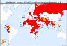countries affected by landmines 2014 - Google Search
