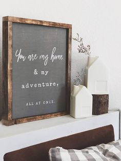 I love this! #ad #farmhouse #marriage #giftidea #youaremyhome #youaremyadventure