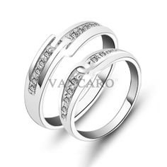 New Fashion Hand in Hand Style 925 Sterling Silver White Gold Plated CZ Lovers' Rings