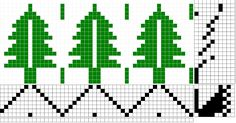 "I saw this pine trees pattern in the November/December 2009 Handwoven Magazine, page They were designed by Karen Tenney and called ""Ho. Inkle Weaving, Inkle Loom, Hand Weaving, Weaving Designs, Weaving Projects, Tree Patterns, Loom Patterns, Perler Beads, Swedish Weaving Patterns"