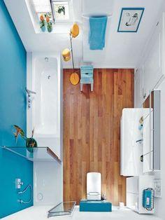 Drei Stile: Platz für Badespaß auf kleinstem Raum