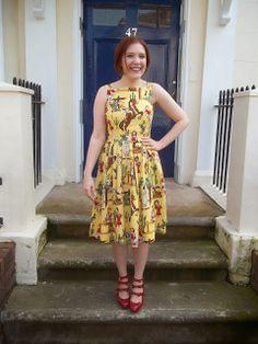 Lauren dress - By Hand London Flora dress with a pleated skirt