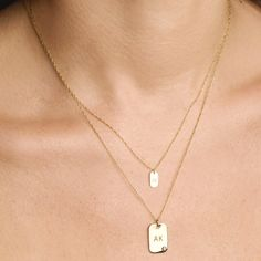 Fashion Necklace Diy Jewellery Sale 22 Carat Gold Chain For Mens White Gold Initial Necklace Necklace Types, Diy Necklace, Fashion Necklace, Dog Tag Necklace, Layered Necklace, Necklaces, Bracelets, Initial Necklace Gold, Monogram Jewelry