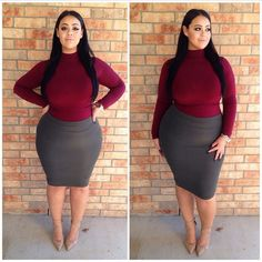 Plus size work outfit ideas for a happy worker 17 curvy girl Curvy Women Fashion, Look Fashion, Plus Size Fashion, Fashion Outfits, Womens Fashion, Petite Fashion, Fall Fashion, Trendy Fashion, Curvy Outfits
