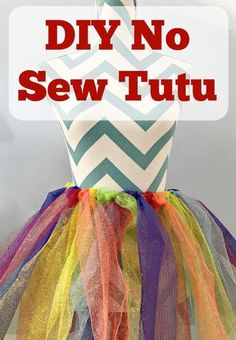 An easy DIY no sew tutu tutorial that will work well for kids and adults.