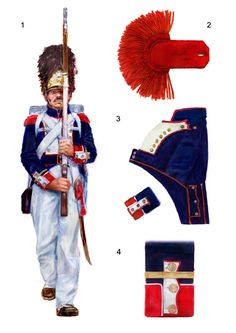Sergeant of Grenadiers, Infantry Regiment of the Duchy of Warsaw, by Przemyslaw Dunaj (based in a watercolor by Joseph Kosinski). First French Empire, Industrial Revolution, Napoleonic Wars, Modern Warfare, American Civil War, Warsaw, Military History, Military Uniforms, Costume