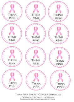 Sweetly Scrapped Breast Cancer Awareness Printables Free Party