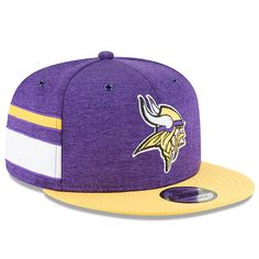 5ee5ab5a6a7cef Minnesota Vikings New Era 2018 NFL Sideline Home Official 9FIFTY Snapback  Adjustable Hat – Purple/Gold