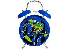 TIF8 SVEGLIA 20CM NERO/AZZURRI  Orologio sveglia con suono meccanico con disegni del serpentello Forza Neroazzurri colori nero azzurro