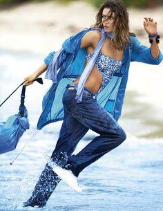 Vogue Paris April 2014 Model: Andreea Diaconu Photographer: Gilles Bensimon