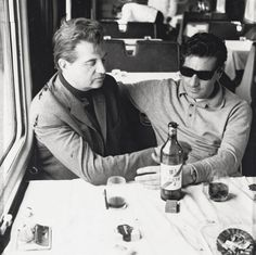 Francis Bacon and George Dyer on the Orient Express to Athens, John Deakin, 1965
