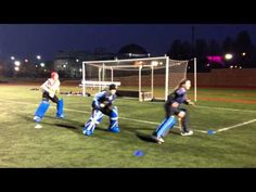 Field hockey goalie footwork side sliding drill- SUPER basic, but great to increase a gks lateral speed Field Hockey Drills, Soccer Drills, Goalkeeper Drills, Hockey Training, Hockey Coach, Soccer Goalie, Hockey Season, At Home Workout Plan, A Team