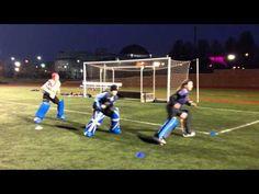 Field hockey goalie footwork side sliding drill - YouTube