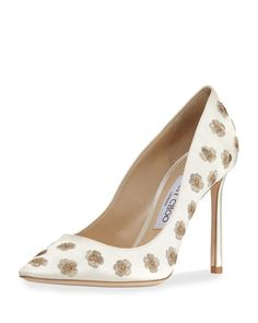 Romy+Embroidered+Satin+Pump+by+Jimmy+Choo+at+ 81ee8c81eae