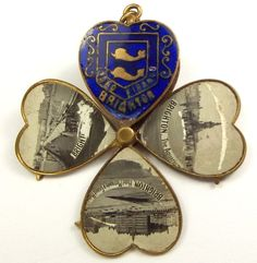 Antique Victorian Enamel Charm Opens 4 Leaf Clover from m4gso on Ruby Lane