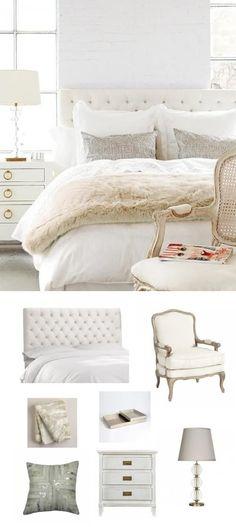 mixing shades of white in bedroom #IDCDesigners #HPMKT #furniture #interiordesign #homedecor #customfurniture