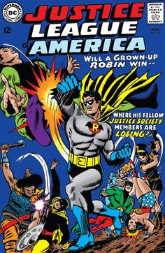 """Justice League of America: my all time favorite """"punch"""" cover by the great Murphy Anderson"""