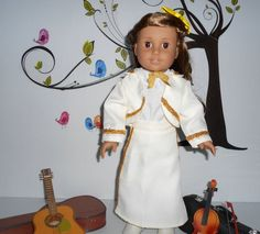 Mariachi charra suit traje pearl ivory or black gabardine with gold trim for American Girl doll 18 in handmade Line Jackets, American Girl, Dress Up, Ivory, Pearls, Suits, Cotton, Etsy, Collection