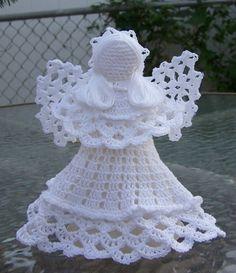 Crocheted Angel White van maryellenscrafts op Etsy