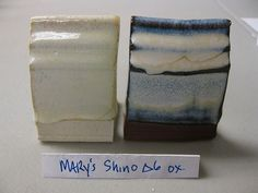 Clay Club: Mary's Fake Shino  35 Frit 3195  24 Silica  16.2 Cornwall Stone  7.8 Whiting  6.0 EPK  4.8 Zinc Oxide  6.6 Tin Oxide  ( Add : 2.0 Iron Oxide for original shino recipe)  Added 8% Rutile for the tile above.