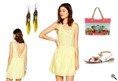 Beach Outfit Ideen: http://www.kleider-deal.de/gelbes-kleid-mit-tiefem-rueckenausschnitt-beach-outfit-ideen/ #Gelb #Rückenausschnitt #Beach #Outfit #Kleider #Dress #Sommerkleider #Strandkleider #Sommer