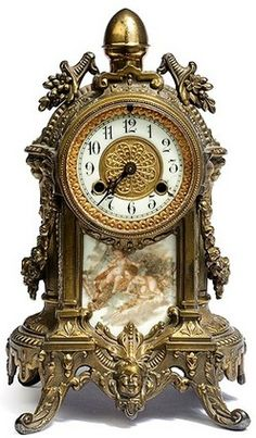 Day 207 - A Course in Miracles Antique Mantle Clock, Mantel Clocks, Antique Clocks, Antique Watches, Classic Clocks, Clock Shop, Retro Clock, Wall Clock Online, Cool Clocks