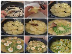 Patatas con huevos en salsa verde - Cocinera y Madre Salsa Verde, Margarita, Mashed Potatoes, Cooking, Ethnic Recipes, Easy, Quesadillas, Anna, House Template