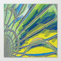 Re-Created Web of Lies3 #Stretched #Canvas by #Robert #S. #Lee - $85.00
