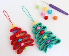 Crochet Christmas Tree Ornaments   Poppy and Bliss