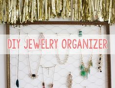 DIY Jewelry Organizer - Style Blog