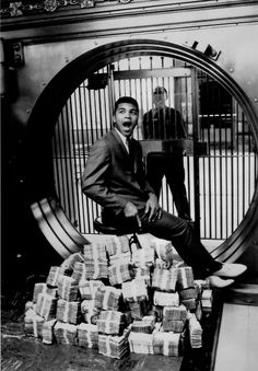 Sitting on a Million Dollars, Muhammad Ali photographed by Howard Bingham, 1963.