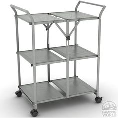 Gray Folding Cart - Atlantic Inc 38436147 - Storage Accessories - Camping World