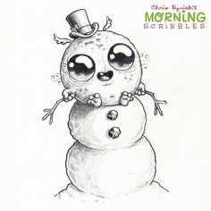 """I'm a snowman!"" ⛄️ #morningscribbles #christmas2015"