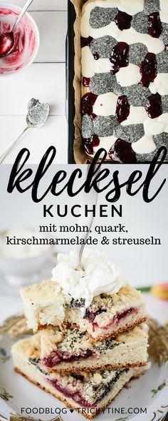 leckerer kleckselkuchen mit mohn, quark, sauerkirschmarmelade & streuseln ♥ trickytine.com