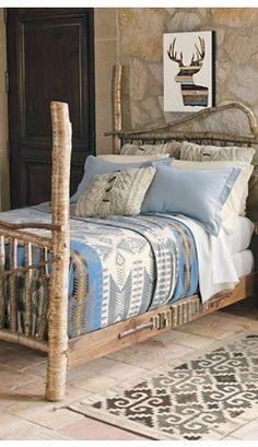 Silver Bark Blanket Bedding Collections, Home Collections, Home Bedroom, Bedroom Decor, Bedroom 2018, Interior Exterior, Interior Design, Log Furniture, Entryway Furniture