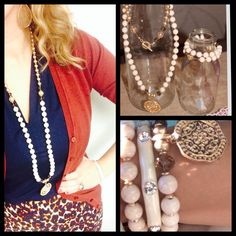 Pompeii necklace, creme brulee premier designs jewelry combos