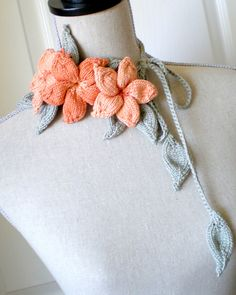 Plumeria Lariat by Ohmay Designs @Ravelry