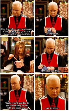 Gunther at Central Perk on Friends