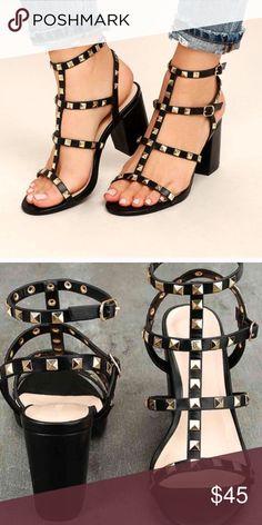 Valentino Rockstud Gladiator Sandals In Cognac Color Gt Now