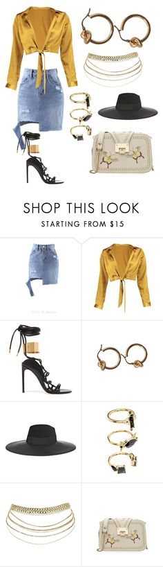 """""""Untitled #594"""" by jenn-m31 ❤ liked on Polyvore featuring Chlo.D.Manon, Boohoo, Tom Ford, Maison Michel and Noir Jewelry"""