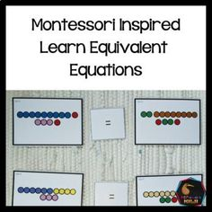 Montessori Inspired Balancing Equations by Montessorikiwi | TpT Montessori Math, Montessori Elementary, Montessori Materials, Elementary Math, Equivalent Equations, Balancing Equations, Inspired Learning, Sign Meaning