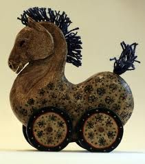 for Willa!!  TATà wooden horse tipical from Valle d'Aosta - Italy