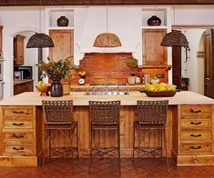 Rustic.....butcher-block countertop is lovely..not sure about bacteria concerns